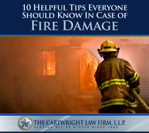 10 Helpful Tips Everyone Should Know in Case of Fire Damage